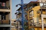 Высоковольные линии электропередач в жилом квартале