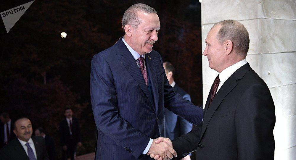 პრეზიდენტ პუტინის შეხვედრა თურქეთის პრეზიდენტ ერდოღანთან