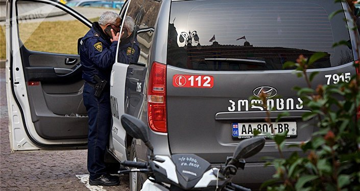 Полицейская машина на площади Свободы