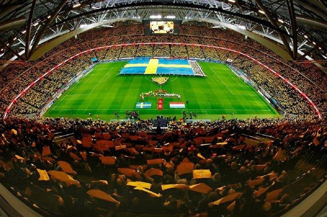 Футбольный матч Швеция - Люксембург