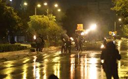 Беспорядки в Афинах во время демонстрации
