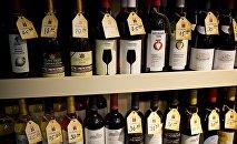 ქართული ღვინო მაღაზიის დახლზე