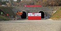 Самый длинный в Грузии тоннель длиной порядка 8,5 километров на участке Квишхети-Зваре