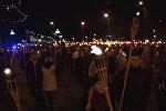 Факельное шествие: как в Риге отметили День независимости Латвии