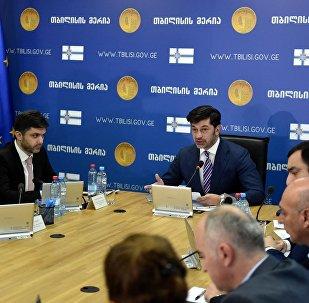 Мэр Тбилиси Каха Каладзе на заседании городского правительства