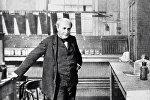 Томас Альва Эдисон (1847-1931), американский изобретатель и предприниматель, создатель фонографа