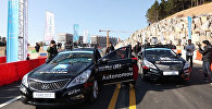 Беспилотные машины состязались в гонках на шоу в Южной Корее