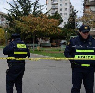 საპატრულო პოლიცია სპეცოპერაციის ადგილზე
