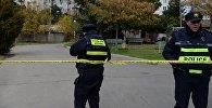 Патрульная полиция на месте спецоперации в Тбилиси