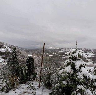 სამეგრელოში გიორგობას თოვლი მოვიდა