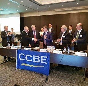 საქართველოს ადვოკატთა ასოციაციის თავმჯდომარე ზაზა ხატიაშვილს ევროპის ადვოკატთა ასოციაციების და სამართლის საბჭოს (CCBE) პრესტიჟული ჯილდო გადასცეს