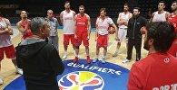 Сборная Грузии по баскетболу перед игрой с Сербией