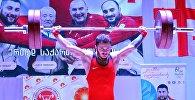 Грузинский тяжелоатлет Шота Мишвелидзе (-62 кг)