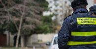 საპატრულო პოლიციის თანამშრომელი დანაშაულის ადგილზე