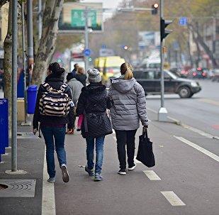 თბილისელები პეკინის ქუჩაზე