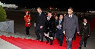 Президент Швейцарии Дорис Лейтхард прибыла в Тбилиси