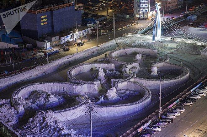 Олимпийские кольца в Пхенчхане