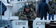 Представители оппозиции в палаточном городке у Рады в Киеве участвуют в антиправительственной акции