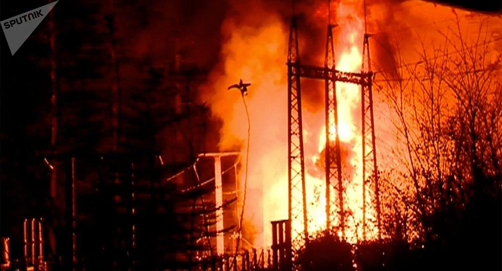 Пожар на ГЭС в Имерети