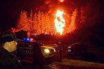 Крупный пожар на ГЭС в Западной Грузии: кадры с места ЧП
