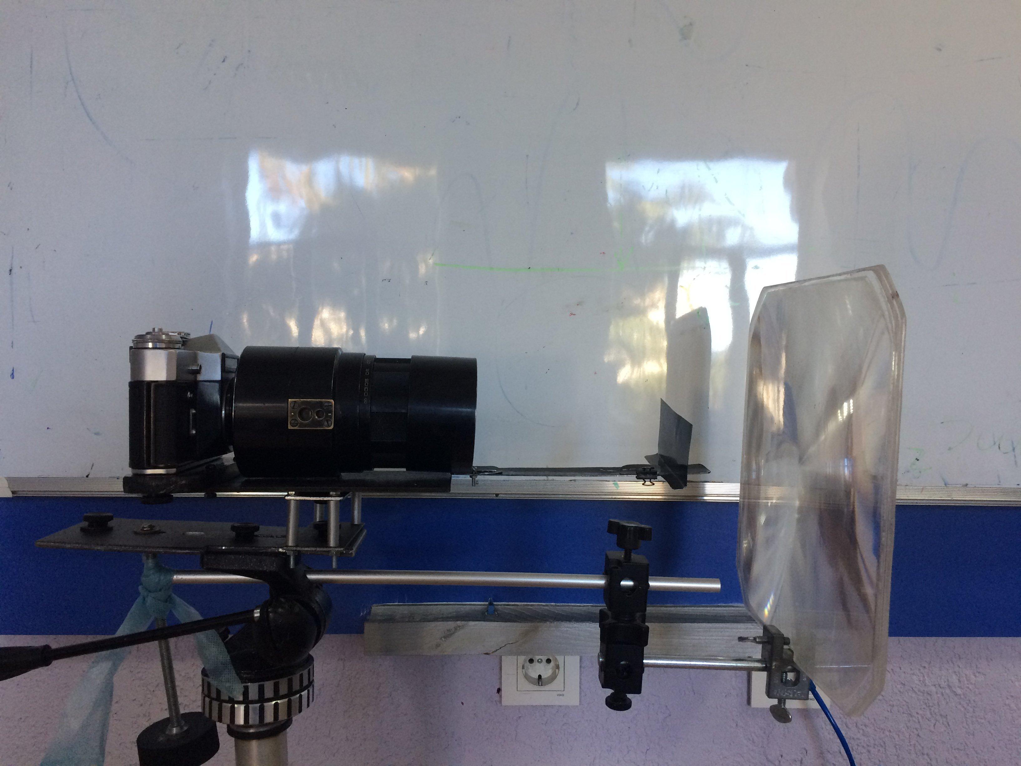 Аппарат, созданный для выявления эффекта Шлирена