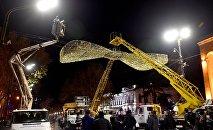 Новогоднее освещение в Тбилиси