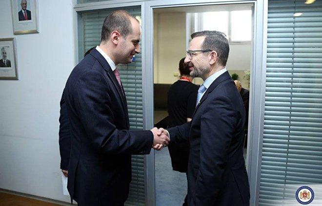 Министр иностранных дел Грузии Михаил Джанелидзе и генсек ОБСЕ Томас Гремингер