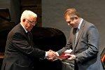 Композитор Раймонд Паулс и международный секретарь президента Грузии Тенгиз Пхаладзе