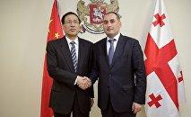 Президент Банка развития Китая Чень Юанем и министр экономики и устойчивого развития Грузии Дмитрий Кумсишвили