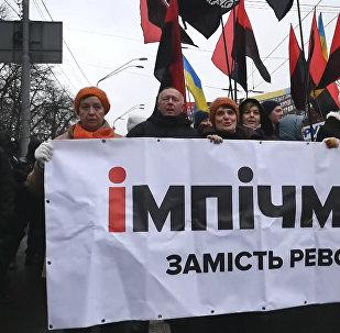 Массовые митинги в поддержку Саакашвили в Киеве
