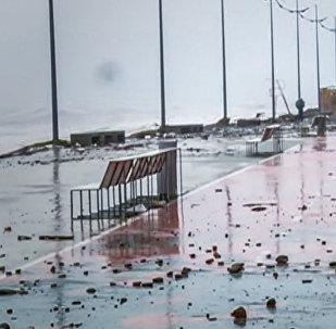 Как выглядит набережная Батуми после шторма