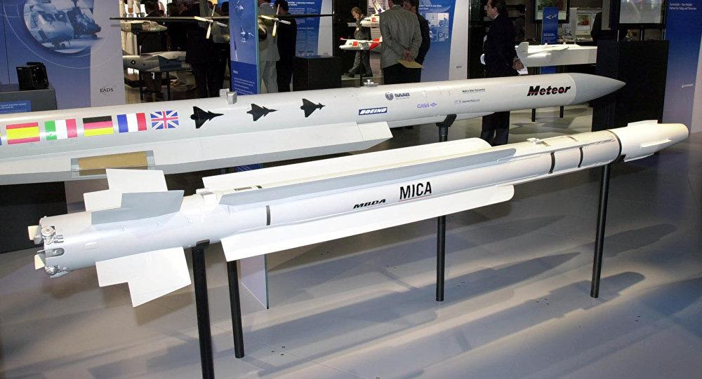 Ракета MICA французского производства на выставке военной промышленности
