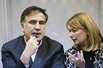 Михаил Саакашвили и Сандра Руловс в Киеве