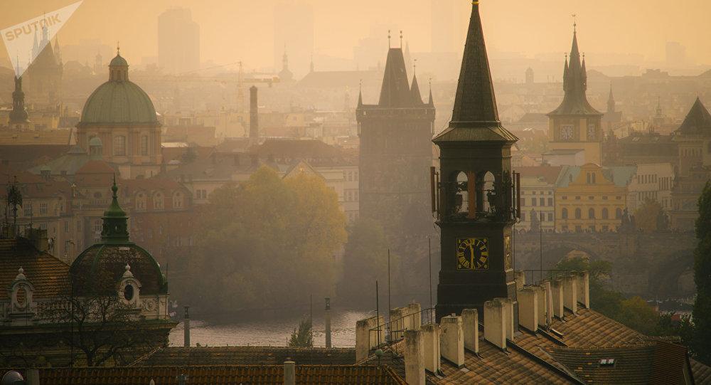 Центр Праги утром