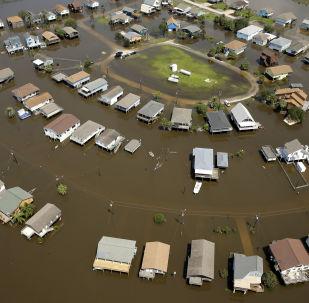 Последствия уоагана Харви в Техасе, США. Снимок сделан 1 сентября 2017 года