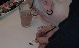 Необычное искусство: турецкий художник рисует на тыквенных семенах