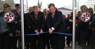 Премьер Грузии Георгий Квирикашвили на открытии нового здания государственной службы по делам ветеранов