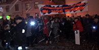 В центре Риги прошел митинг за сохранение русских школ в Латвии
