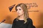 Марина Восканян на пресс-конференции Не умереть молодым