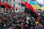 Акция сторонников Саакашвили в Киеве
