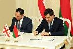 Глава СГБ Грузии Вахтанг Гомелаури и председатель КГБ Беларуси Валерий Вакульчик подписали соглашение