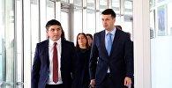 Замглавы МВД Грузии Леван Какава и Центр 112 Николоз Гелашвили