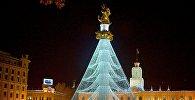 Новогодняя иллюминация на площади Свободы