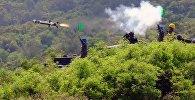 Запуск ракеты системы Javelin американского производства на учениях тайваньской армии