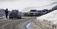 Патрульная полиция временно закрывает участок Военно-грузинской дороги