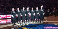 Грузинский ансамбль Швидкаца в США перед матчем NBA