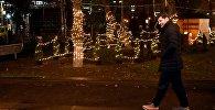 Мэр Каха Каладзе проверяет новогоднее освещение на улицах столицы