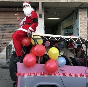 Жители города Сайедная празднуют Рождество