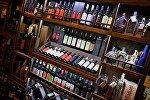 Грузинские вина на полках одного из тбилисских супермаркетов