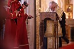 Католикос-Патриарх всея Грузии Илия Второй на службе в соборе Самеба